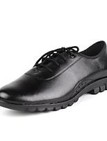 Chaussures de danse(Noir / Marron) -Non Personnalisables-Talon Bas-Cuir-Moderne / Bottes de danse