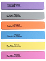 2PCS A Rectangle Sunshine The Sponge  Nail File Double Sided  Can Be Washed6 Color Random