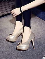 Women's Sandals Spring / Summer / Fall Peep Toe Suede Outdoor Stiletto Heel Others Silver / Gold Walking