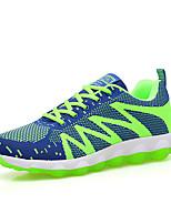 Masculino-Tênis-Conforto-Rasteiro-Preto Azul Verde-Tecido-Casual