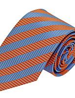 Cravate Vintage / Soirée / Travail / Décontracté Polyester,Homme Rayé,Bleu Toutes les Saisons