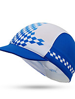 Cycling Cap Hat Bike Windproof Dust Proof Sunscreen Unisex Blue Terylene