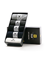 DOUBLE LIONS Men's Cotton Socks 5/box-MM0409