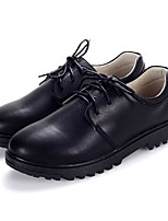 Oxfords Spring Fall Winter Comfort Light Up Shoes Leather Casual Party & Evening Low Heel Lace-up Black Walking