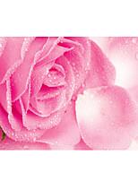 grande fresque roses papier peint fleurs roses mur d'art papier effet 3d non-tissé de mur de décoration