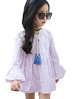 Girl's Casual/Daily Solid DressCotton Summer Pink / Purple / White