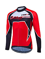 Deportes® Maillot de Ciclismo Mujer / Hombres / Unisex Mangas largasTranspirable / Secado rápido / Cremallera delantera / Bandas