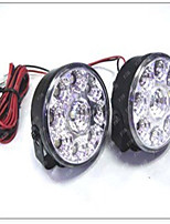Supply Gm Circular Lamp - 9 Of 9 Led Fog Lamps Light Round 9 Light
