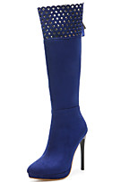 Women's Boots Spring / Fall / Winter Fashion Boots Leatherette/ Casual Stiletto Heel Others Black / Blue / Burgundy