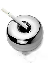 1PC  Creative Home Decoration Domestic Bureaux KTV Stainless Steel Windtight Ashtrays