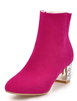 Women's Shoes Exquisite Heel Round Toe Zip Ankle Bootie More Color Available