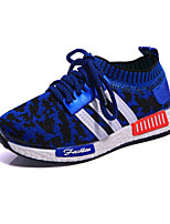 Girl's Sneakers Spring / Fall Comfort / Round Toe Tulle Athletic / Casual Flat Heel Others / Lace-up Blue / Red