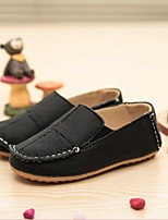 Unisex Loafers & Slip-Ons Spring Fall Leather Casual Flat Heel Others Black Yellow White Others
