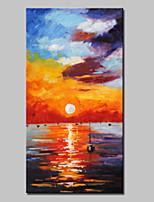 Handgemalte Abstrakt / Landschaft / Abstrakte Landschaft Ölgemälde,Modern / Europäischer Stil Ein Panel Leinwand Hang-Ölgemälde For Haus