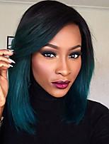 синтетический парик фронта шнурка назад в темно-зеленый бесклеевой ломбера тон цвета волос парики короткий боб