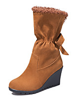 Women's Boots Fall / Winter Snow Boots / Fashion Boots / Round Toe Fleece Party & Evening / Dress / Casual Wedge Heel