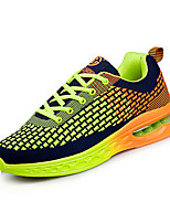Men's Sneakers Spring / Fall Comfort / Round Toe Tulle Athletic Flat Heel Lace-up Blue / Green / Red Sneaker
