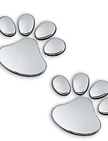 Individuality Cartoon Bear Claw Silver 3D Three-Dimensional Decorative Stickers