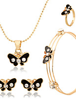 Delicate  children jewelry Elegant Luxury Design New Fashion  Colorful wedding Jewelry Sets Women Gift