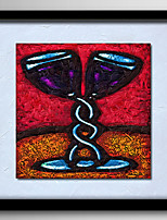 Modern Wall Art Red Wine Glass Oil Painting On Canvas Home Decoration  Abstract Painting With Frame