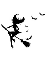 Halloween Stickers/ Decals Halloween Witch Stickers For Home Decor