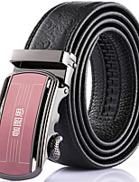 Katusi New Mens Ratchet Belt Fashion Business Casual Style Genuine Leather 3.5cm Width kts-1