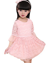 Girl's Casual/Daily Solid DressOthers Summer Pink / Beige