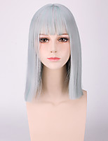 Fashion Short Straight Grey Color Cosplay Synthetic Wigs