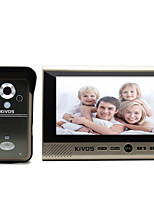 KiVOS KDB700 Wireless Video  7 Inch Household Infrared Inductive Doorbell HD Monitor Lock Waterproof