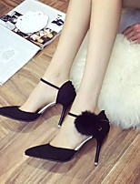 Women's Heels Fall Pointed Toe Dress Stiletto Heel Fur Black / Gray Walking