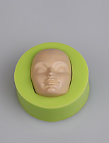 Women faces silicone fondant mold 3D cake decorating mold chocolate candy mold tools
