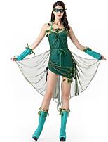 Costumes Vampire / Fête d'Octobre / Costumes de carrière Halloween / Noël / Carnaval / Nouvel an / Fête d'Octobre Vert Couleur Pleine