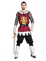 Costumes Warrior Halloween Wine Red Print Terylene Top / Pants / More Accessories