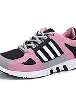 Women's Sneakers Fall / Winter Flats Tulle Outdoor / Dress / Casual Flat Heel  Red / Gray Sneaker