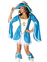Costumes More Costumes Halloween White / Sky Blue Patchwork Terylene Dress / More Accessories
