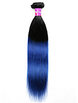 1Bundle 1b Blue Ombre Straight Virgin Hair Extensions 2016 Fashion Malaysian  Ombre Weave Black Blue Ombre Hair
