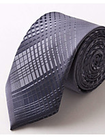 Men Vintage / Party / Work / Casual Neck TiePolyester PatchworkGray All Seasons