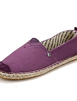 Women's Loafers & Slip-Ons Spring / Summer / Fall Closed Toe Linen Outdoor Flat Heel Others Blue /