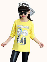Girl's Casual/Daily Print TeeCotton Spring / Fall Black / Red / White / Yellow