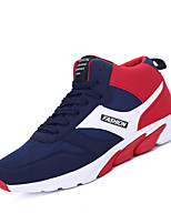 Men's Sneakers Spring / Fall Comfort PU Casual Flat Heel  Black / Blue / Red Sneaker