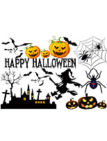 Wall Stickers Wall Decals Style Halloween Elf Pumpkin Spider PVC Wall Stickers