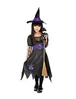 Costumes de Cosplay / Costume de Soirée Déguisements Thème Film/TV Fête / Célébration Déguisement Halloween Noir / Vert clair ImpriméRobe