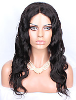 16-26 Peruvian Virgin Hair Body Wave Glueless Full Lace Wig Color Natural Black Baby Hair for Black Women
