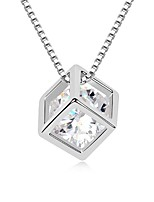 Thousands of colors Necklace Pendant Necklaces Jewelry Platinum Plated Daily Silver 1pc Gift