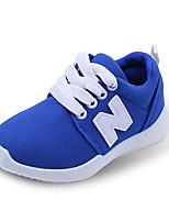Jungen-Flache Schuhe-Lässig-Tüll-Flacher Absatz-Komfort-Schwarz / Blau