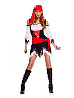 Cosplay Costumes / Party Costume Pirate Festival/Holiday Halloween Costumes Red / Black Lace Skirt / Belt / Headwear Halloween Female