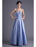 Formal Evening Dress A-line Sweetheart Floor-length Taffeta with Beading / Pleats