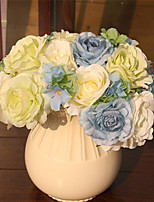 Hi-Q 1Pc Decorative Flower Camellia Wedding Home Table Decoration Artificial Flowers Bride Holding Flowers