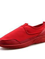 Черный / Красный / Черный и белый-Мужской-Для прогулок / На каждый день-Микроволокно-На плоской подошве-Удобная обувь-Кеды
