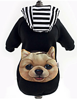 Cute Warm T-shirt with Hoodie Backpack for Pets Dogs